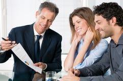 Financiële planningsoverleg stock afbeelding