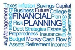 Financiële Planningsword Wolk stock illustratie