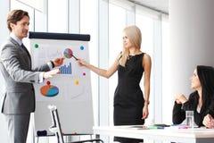 Financiële presentatie stock afbeeldingen
