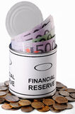 Financiële reserve Stock Foto