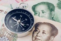 Financiële richting van China en de oorlog van de economiehandel, het nieuwe te voorschijn komen stock afbeelding