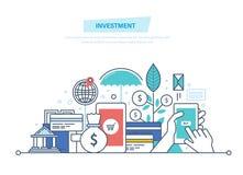 Financiële slimme investering, financiën, bankwezen, marketing, analytics van marktgegevens, veiligheid royalty-vrije illustratie