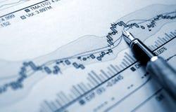 Financiële stat Stock Afbeelding