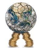 Financiële steun voor verzwakt van de wereldeconomie Royalty-vrije Stock Afbeeldingen