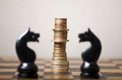 Financiële strategie Stock Foto's
