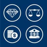 Financiële Tekens Royalty-vrije Stock Foto