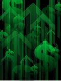 Financiële terugwinningsachtergrond Royalty-vrije Stock Afbeeldingen