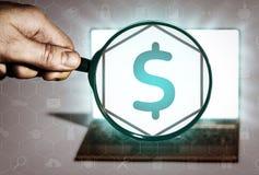 Financiële transacties, bankwezen, het lenen, enz. Royalty-vrije Stock Afbeeldingen