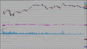 Financiële, voorraadgrafiek Stock Foto's