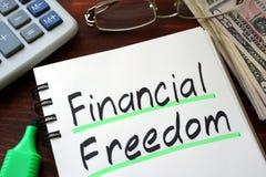 Financiële Vrijheid royalty-vrije stock afbeelding