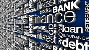Financiële Woorden Royalty-vrije Stock Fotografie