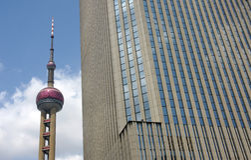 Financiën & Plaats 6 van Lujiazui Stock Fotografie