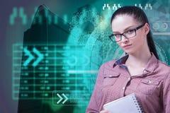 Financiën, analytics, succes en toekomstig concept royalty-vrije stock foto