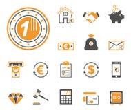 Financiën & Bank - Iconset - Pictogrammen royalty-vrije illustratie