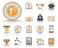 Financiën & Bank - Iconset - Pictogrammen stock illustratie
