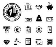 Financiën & Bank - Iconset - Pictogrammen vector illustratie