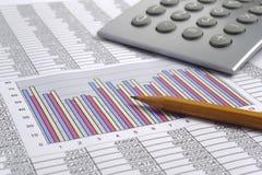 Financiën bedrijfsberekening Stock Foto