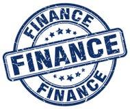 financiën blauwe zegel stock illustratie