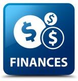 Financiën (dollarteken) blauwe vierkante knoop vector illustratie