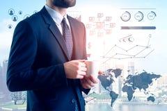 Financiën en analyticsconcept Stock Afbeelding