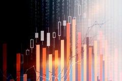 Financiën en gegevensverwerkingsconcept Royalty-vrije Stock Fotografie