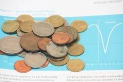 Financiën en geld Stock Afbeeldingen