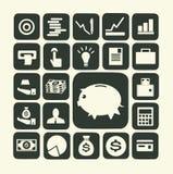 Financiën en geldpictogram stock illustratie