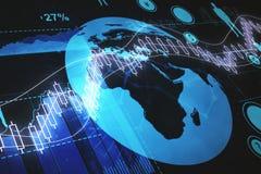 Financiën en globaal economieconcept vector illustratie