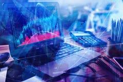 Financiën en handelsconcept Stock Fotografie