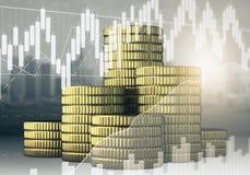 Financiën en inkomensconcept royalty-vrije illustratie