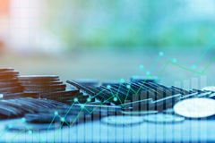 Financiën en Investeringsconcept stock foto