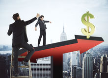 Financiën en manipulatieconcept Stock Foto