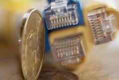 Financiën en nieuwstechnologieën Royalty-vrije Stock Foto