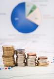 Financiën en statistieken royalty-vrije stock afbeelding