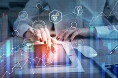 Financiën en toekomstig concept stock afbeeldingen