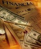 Financiën - Financieel Documenten en Geld royalty-vrije stock afbeeldingen