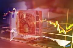 Financiën, geld en grafiek Royalty-vrije Stock Afbeelding