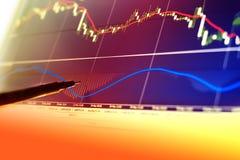 Financiën, geld en grafiek Royalty-vrije Stock Foto's