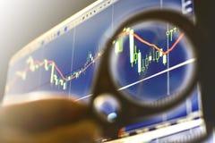 Financiën, geld en grafiek Royalty-vrije Stock Afbeeldingen