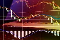 Financiën, geld en grafiek Royalty-vrije Stock Fotografie