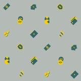Financiën - naadloos patroon Vector Vector Illustratie
