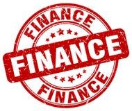 financiën rode zegel vector illustratie