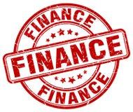 financiën rode zegel stock illustratie