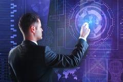 Financiën, toekomst en analyticsconcept stock fotografie