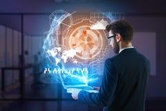 Financiën, toekomst en boekhoudingsconcept Stock Afbeelding