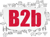 Financiënconcept: B2b op Gescheurde Document achtergrond Stock Foto's