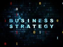 Financiënconcept: Bedrijfsstrategie op Digitaal Royalty-vrije Stock Fotografie