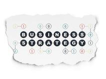 Financiënconcept: Bedrijfsstrategie op Gescheurd Document Stock Fotografie