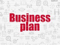 Financiënconcept: Businessplan op muurachtergrond royalty-vrije illustratie