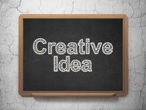 Financiënconcept: Creatief Idee op bordachtergrond Royalty-vrije Stock Foto